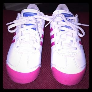 Adidas Ortholite Hot Pink & White Sneakers